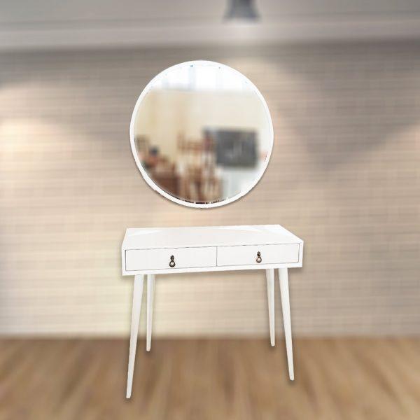 میز آرایش چوبی سفید
