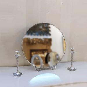 آینه شمعدان برنز دایره ای