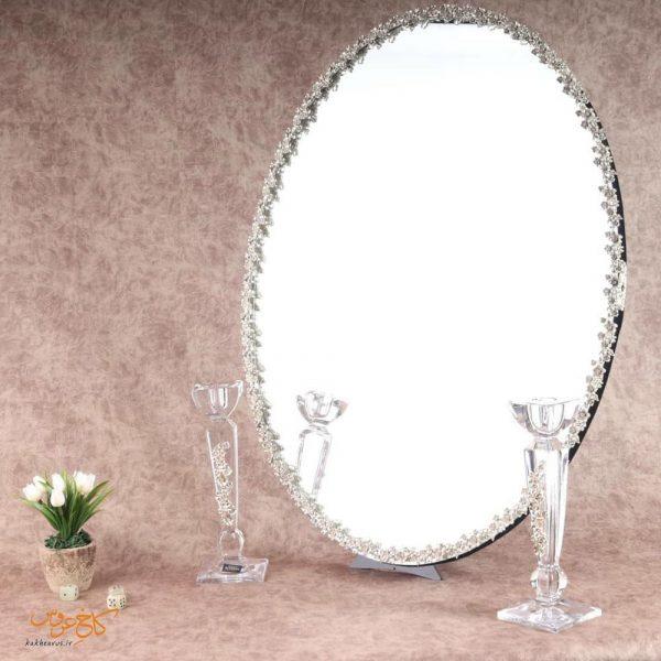 آینه و شمعدان طرح نقره شقایق