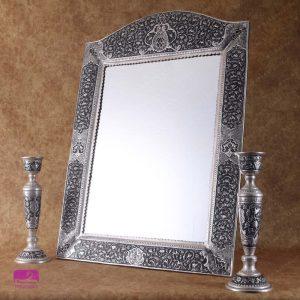 آینه و شمعدان قلمزنی عروس