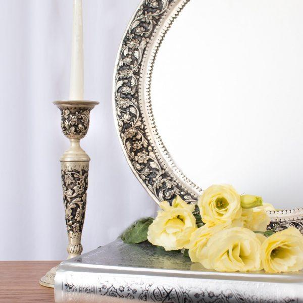 آینه و شمعدان قلمزنی