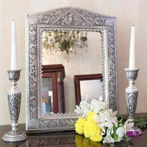 آینه شمعدان قلمزنی