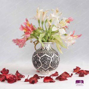 گلدان قلمزنی برنجی