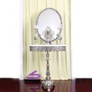 آینه و شمعدان آلیاژ