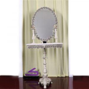 ست آینه شمعدان استخوانی