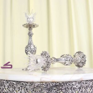 سرویس کامل آینه و شمعدان آلیاژ -مدل میگل