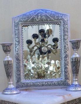 آینه شمعدان قلم زنی